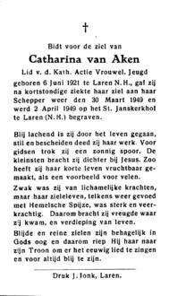 Aken, Catharina van - 1921 (1)