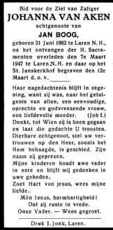 Aken, Johanna van - 1882 (1)