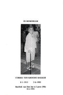 Bakker, Corrie ten Kroode - 1913