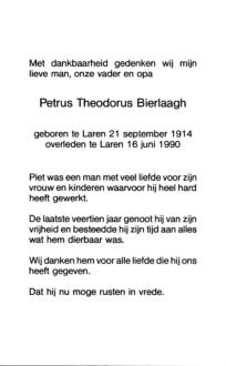 Bierlaagh, Petrus Theodorus - 1914 (1)