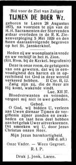 Boer, Tijmen de - 1875  (1)