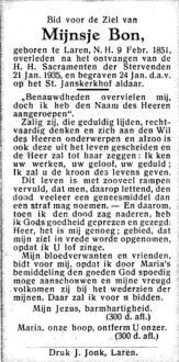 Bon, Mijnsje - 1851 (1)
