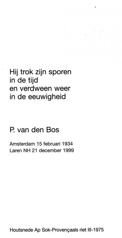 Bos, P. van den - 1934 (1)