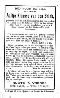 Brink, Aaltje Klaasse van den - 1890 (1)