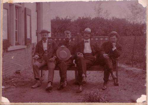 Kunstschilders Langeveld, van Beever, Snoeck en Schulman, 1906